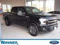 Shadow Black 2017 Ford F-150 Lariat 4WD 6-Speed