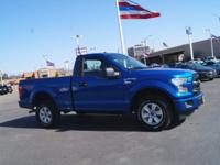 Lightning Blue 2017 Ford F-150 XL 4WD 6-Speed Automatic