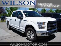 CARFAX One-Owner. White 2017 Ford F-150 XL 4WD 6-Speed