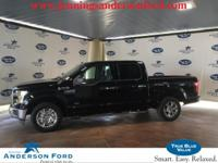 Clean CARFAX. Shadow Black 2017 Ford F-150 XLT RWD