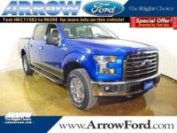 Lightning Blue 2017 Ford F-150 XLT 4WD 10-Speed