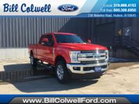 Race Red 2017 Ford F-250SD Lariat 4WD TorqShift 6-Speed