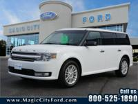 This 2017 Ford Flex SEL includes a backup sensor, rear