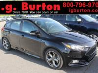 New Price! CARFAX One-Owner. Black 2017 Ford Focus ST