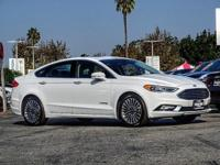 I4 Hybrid, White.  CARFAX One-Owner. White 2017 Ford