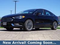2017 Ford Fusion Hybrid Titanium in Shadow Black, This