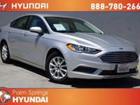 CARFAX One-Owner. Silver 2017 Ford Fusion S FWD 6-Speed