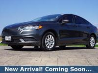 2017 Ford Fusion S in Magnetic, This Fusion comes with