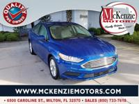 Lightning Blue 2017 Ford Fusion SE FWD 6-Speed