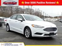 CARFAX One-Owner. Oxford White 2017 Ford Fusion Hybrid