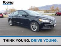 CARFAX One-Owner. Clean CARFAX. Black 2017 Ford Fusion