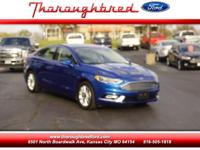 Our 2017 Ford Fusion SE in Lightning Blue lets the