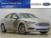Clean CARFAX. Gold 2017 Ford Fusion SE FWD 6-Speed