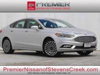 CARFAX One-Owner. Clean CARFAX. Silver 2017 Ford Fusion