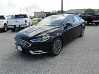 Options:  2017 Ford Fusion Titanium|Shadow Black|Ebony