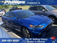 6-Speed Automatic, AWD. Blue 2017 Ford Fusion Sport AWD