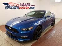 CARFAX One-Owner. Blue 2017 Ford Mustang RWD 6-Speed