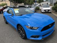 2017 Ford Mustang Grabber Blue 2D Coupe, EcoBoost 2.3L