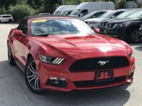 2017 Ford Mustang EcoBoost Premium Red  Clean CARFAX.