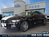 This 2017 Ford Mustang GT features a push button start,