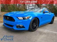 Blue 2017 Ford Mustang GT RWD 6-Speed 5.0L V8 Ti-VCT