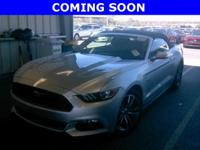 "Clean CARFAX One-Owner. ""2017 GT MUSTANG CONVERTIBLE"
