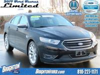 AWD. Clean CARFAX. Black 2017 Ford Taurus Limited AWD