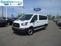 Certified. Oxford White 2017 Ford Transit-150 XL 8