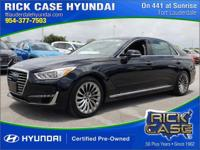 Recent Arrival! Clean CARFAX. Black 2017 Genesis G90