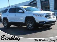 CARFAX One-Owner. Clean CARFAX. White 2017 GMC Acadia