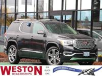 CARFAX One-Owner. 2017 GMC Acadia Denali Black One