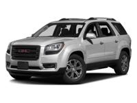 Boasts 22 Highway MPG and 15 City MPG! This GMC Acadia