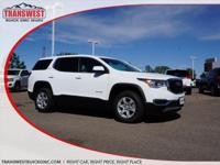 Options:  2017 Gmc Acadia Sle-1|Summit White|Drk Ash/Lt