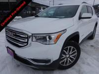 Options:  2017 Gmc Acadia Sle-2|White|Carfax One-Owner.