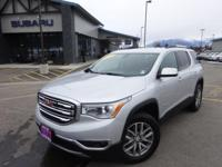Options:  2017 Gmc Acadia Sle-2|Silver|Recent Arrival!