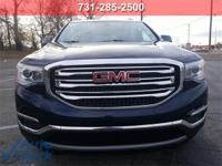 Blue 2017 GMC Acadia SLE-2 FWD 6-Speed Automatic 2.5L