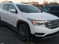 Certified. Summit White 2017 GMC Acadia SLE-2 FWD