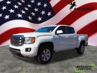 CARFAX One-Owner. Clean CARFAX. White 2017 GMC Canyon