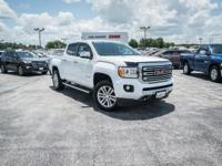 CARFAX One-Owner. Summit White 2017 GMC Canyon SLT 4WD