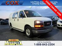 This 2017 GMC Savana 2500 Work Van in Summit White is