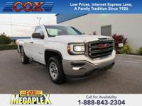 This 2017 GMC Sierra 1500 in White is well equipped
