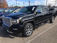 New Price! Clean CARFAX. Black 2017 GMC Sierra 1500