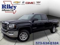 Onyx Black 2017 GMC Sierra 1500 SLE 4WD 6-Speed