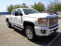 Certified. Summit White 2017 GMC Sierra 2500HD Denali