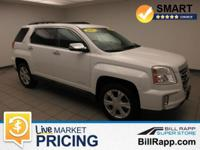 Clean CARFAX. Summit White 2017 GMC Terrain SLE-2 AWD