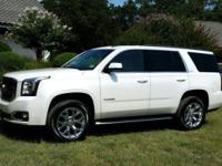 Certified. Summit White 2017 GMC Yukon SLT RWD 6-Speed