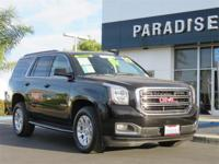Clean CARFAX. Certified. Black 2017 GMC Yukon SLT RWD