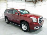 Crimson Red Yukon with Rear Entertainment, Sunroof and