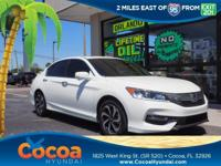 This 2017 Honda Accord EX-L in White features: Recent