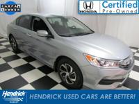 This Honda Accord Sedan is Certified Preowned! CARFAX